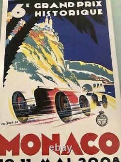 Affiche Originale Poster 6 éme Grand Prix Monaco Historique Formule 1 F1 2008