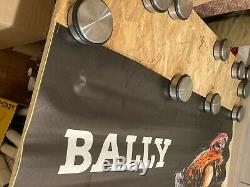 Affiche Originale Poster Bally Chaussure Signé Alain Gauthier Vintage
