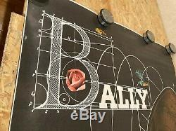 Affiche Originale Poster Bally Chaussures Signé Roger Bezombes Vintage