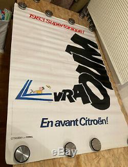 Affiche Originale Poster Citroen 1983 Supertonique Signé R. Savignac Retro