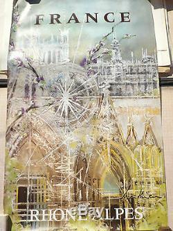 Affiche Originale Poster France Rhone Alpes Cathedrale Georges Mathieu