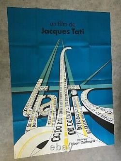Affiche Originale Trafic Film 1971 Cinéma Tati 120x160cm Movie Poster