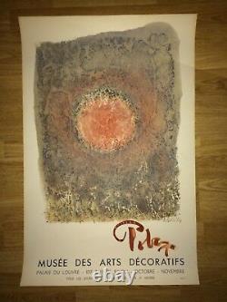 Affiche Poster Mark TOBEY Musée arts décoratifs 1961 lithographie Mourlot