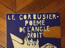 Affiche Poster Original Le Corbusier 1955 Mourlot