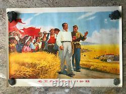 Affiche Poster Original Propagande China Mao Révolution culturelle de 1966
