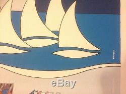Affiche Rare Original Vintage Poster VOILES MARSEILLE Années 1992 118X168