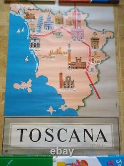 Affiche Tourisme Travel Original Poster Affiche Originale Italie Toscane Ancien