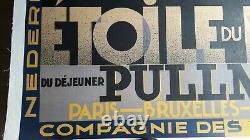 Affiche ancienne CASSANDRE ETOILE DU NORD 1927 original poster