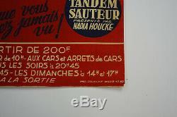 Affiche ancienne originale cirque de BORDEAUX 1951, vintage CIRCUS POSTER