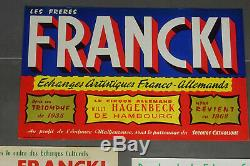 Affiche ancienne originale cirque frères Francki, vintage CIRCUS POSTER