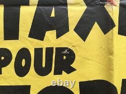Affiche cinéma Un taxi pour Tobrouk (EO 1961) Original French Movie Poster