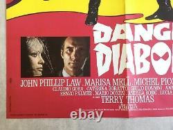 Affiche cinéma originale Danger Diabolik (1967) Original French Movie Poster