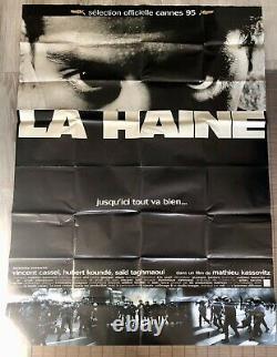 Affiche cinema originale La haine movie poster 120x160 Collection Ancienne Rare