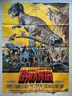 Affiche de cinéma La vallée de Gwangi (EO 1968) ORIGINAL MOVIE POSTER Dinosaures
