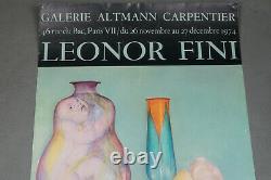 Affiche original Leonor Fini Galerie Altman Carpentier 1974 Paris, poster