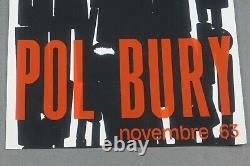 Affiche original lithographiée Pol Bury 1963, abstract art lithography poster