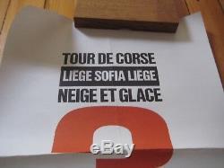 Affiche originale 1961 CITROEN DS19 RALLYE Tour de Corse Neige Glace Liège Sofia
