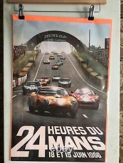 Affiche originale 24H du Mans 1966