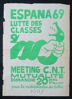 Affiche originale ESPANA 69 LUTTE DES CLASSES poster mai 1968 402