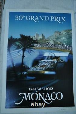 Affiche originale Grand Prix de Monaco 1972 de F1 numérotée