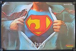 Affiche originale JESUS SUPER JEANS Opening for 1979 Superman original poster