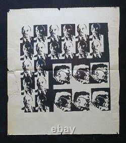 Affiche originale LENINE TROTSKY noir ligue communiste poster 1968 1969 301