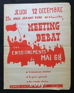 Affiche originale LES ENSEIGNEMENTS DE MAI 68 MARSEILLE poster may 1968 265