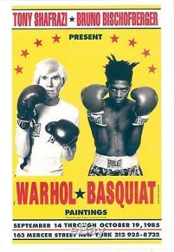 Affiche originale/Original poster Warhol et Basquiat by Michael Halsband 1999