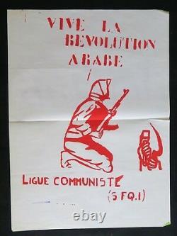 Affiche originale VIVE LA RÉVOLUTION ARABE ligue communiste poster 1968 305