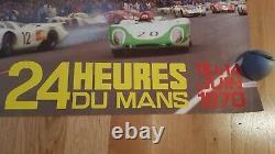 Affiche originale Vintage 24 H DU MANS Race Poster 1970 numéro 525 Très bon état