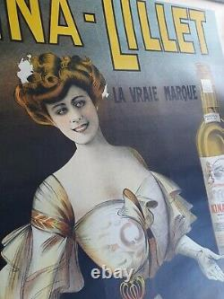 Affiche originale ancienne Kina LILLET LILET 1904 DOLA OLD poster ancienne
