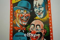 Affiche originale cirque les frères FRANCKI 1959, ANTIQUE CIRCUS POSTER