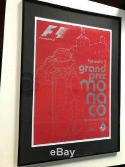 Affiche originale de F1 Grand Prix de Monaco 2014