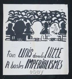 Affiche originale mai 68 A BAS LES IMPERIALISTES poster 1968 497