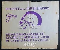 Affiche originale mai 68 BOYCOTT PARTICIPATION CAPITALISME poster may 1968 252