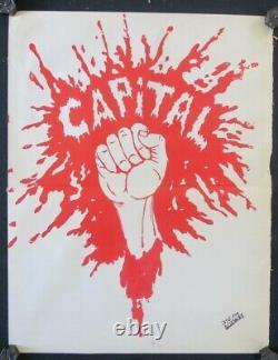 Affiche originale mai 68 COUP DE POING DANS LE CAPITAL poster may 1968 426