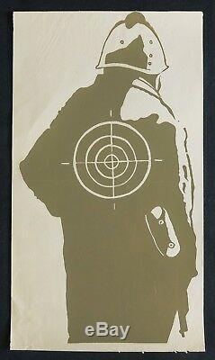 Affiche originale mai 68 CRS CIBLE KAKI french poster 1968 012