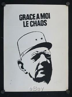 Affiche originale mai 68 GRACE A MOI LE CHAOS poster may 1968 203