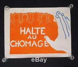 Affiche originale mai 68 HALTE AU CHOMAGE french poster may 1968 089