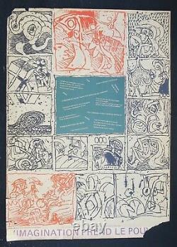Affiche originale mai 68 IMAGINATION PREND LE POUVOIR Alechinsky poster 1968 520