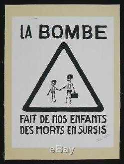 Affiche originale mai 68 LA BOMBE FAIT DE NOUS entoilée poster 1968 321