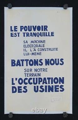 Affiche originale mai 68 LE POUVOIR EST TRANQUILLE poster may 1968 228