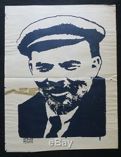 Affiche originale mai 68 LENINE Marseille poster 1968 283