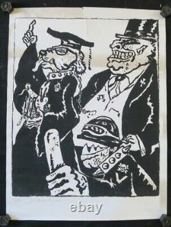 Affiche originale mai 68 LES CHIENS DE GARDE 3/50 poster 1968 420