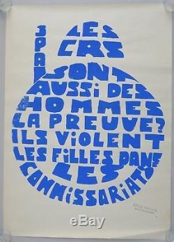Affiche originale mai 68 LES CRS SONT AUSSI DES HOMMES. Poster may 1968 010
