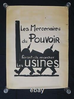 Affiche originale mai 68 LES MERCENAIRES DU POUVOIR french poster may 1968 121