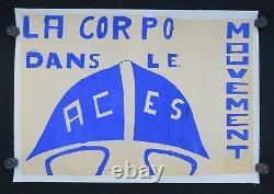 Affiche originale mai 68 La CORPO dans le mouvement ACES poster may 1968 226