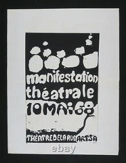 Affiche originale mai 68 MANIFESTATION THÉTRALE french poster may 1968 050