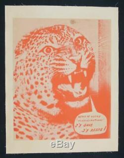 Affiche originale mai 68 MERCI DE VOTRE PARTICIPATION entoilée poster 1968 320
