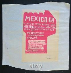 Affiche originale mai 68 MEXICO MEETING 5 NOVEMBRE poster may 1968 452